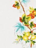 Pittura del fiore su di ceramica Fotografia Stock Libera da Diritti