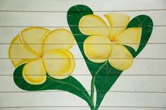 Pittura del fiore sulla parete fotografia stock libera da diritti