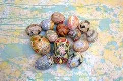 Pittura del fondo delle uova di Pasqua Immagine Stock