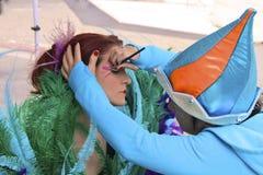Pittura del fronte da Cirque du Soleil Immagini Stock Libere da Diritti