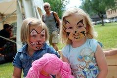 Pittura del fronte dei bambini Immagini Stock Libere da Diritti