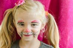 Pittura del fronte del coniglio Fotografie Stock