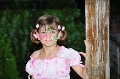 Pittura del fronte del fiore Fotografie Stock