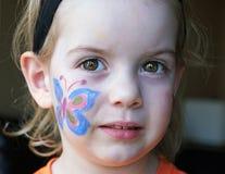 Pittura del fronte della farfalla immagini stock