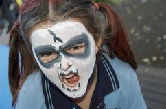 Pittura del fronte di Halloween Fotografie Stock