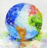 Pittura del globo Immagine Stock