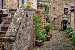 Pittura del paesaggio della Toscana fotografia stock libera da diritti
