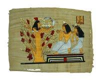 Pittura del papiro Fotografie Stock Libere da Diritti