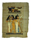 Pittura del papiro Fotografia Stock Libera da Diritti