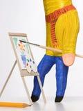 Pittura del pittore della mano Fotografie Stock Libere da Diritti