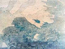 Pittura del primo piano su tela Immagini Stock