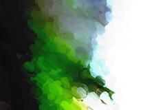 Pittura del punto verde blu e nera fotografia stock libera da diritti