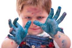 Pittura del ragazzo Immagini Stock Libere da Diritti