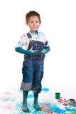Pittura del ragazzo Fotografia Stock