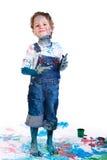 Pittura del ragazzo Fotografia Stock Libera da Diritti