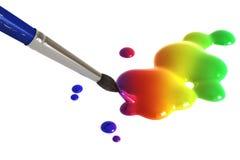 Pittura del Rainbow Fotografia Stock Libera da Diritti