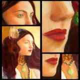 Pittura del ritratto Fotografia Stock