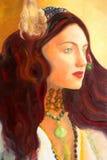 Pittura del ritratto Fotografia Stock Libera da Diritti
