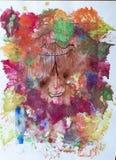 Pittura del ` s dei bambini - uomo della foresta Fotografia Stock