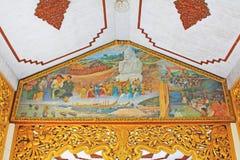 Pittura del ` s della pagoda di Kyauk Taw Gyi, Rangoon, Myanmar Fotografia Stock