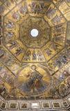 Pittura del soffitto del battistero di San Giovanni Firenze Fotografia Stock Libera da Diritti