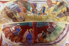 Pittura del soffitto nel monastero di Troyan in Bulgaria Fotografia Stock