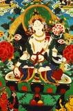 Pittura del Tibet Fotografie Stock