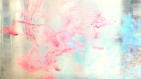 Pittura dell'acquerello sotto acqua stock footage