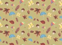 Pittura dell'acquerello sul tema dell'autunno immagine stock libera da diritti