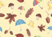Pittura dell'acquerello sul tema dell'autunno fotografia stock
