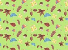 Pittura dell'acquerello sul tema dell'autunno immagini stock