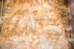 Pittura dell'affresco del castello del Amra Fotografia Stock
