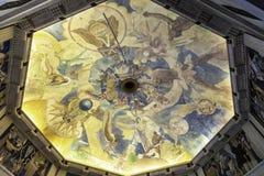 Pittura dell'affresco del soffitto a Griffith Observatory fotografia stock libera da diritti