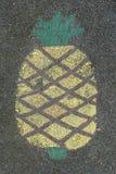 Pittura dell'ananas sulla terra Fotografia Stock