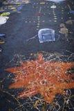 Pittura dell'asfalto fotografie stock libere da diritti
