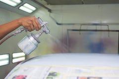 Pittura dell'automobile fotografia stock libera da diritti