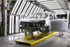 Pittura dell'automobile della fabbrica Fotografie Stock