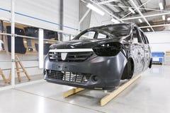 Pittura dell'automobile della fabbrica Fotografia Stock