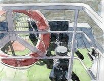 Pittura dell'inchiostro & dell'acquerello Immagine Stock Libera da Diritti