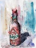 Pittura dell'inchiostro & dell'acquerello Fotografia Stock Libera da Diritti