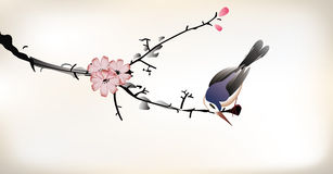 Pittura dell'uccello illustrazione vettoriale