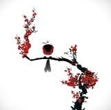 Pittura dell'uccello Immagini Stock