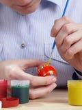 Pittura dell'uovo di Pasqua Fotografia Stock Libera da Diritti