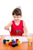 Pittura della bambina Immagine Stock Libera da Diritti