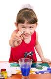 Pittura della bambina Fotografie Stock Libere da Diritti