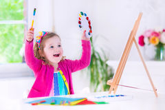 Pittura della bambina Fotografia Stock
