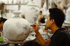 Pittura della ceramica Immagine Stock Libera da Diritti