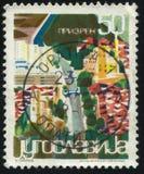 Pittura della città storica Prizren Immagine Stock Libera da Diritti