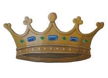 Pittura della corona dell'oro Fotografie Stock Libere da Diritti