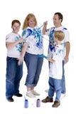 Pittura della famiglia Immagini Stock Libere da Diritti